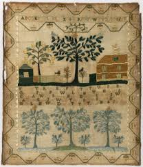 enchanting embroidery embroidered antique sampler 1799