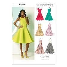 Dress Pattern John Lewis | vogue women s dresses sewing pattern 8998 at john lewis