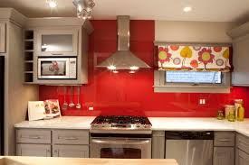 home design outstanding red backsplash behind stove with recessed