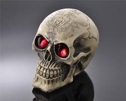 shop terror resin skull ornament led light