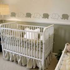 baby elephant nursery border stencil nursery and playroom wall