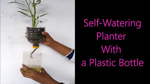 self watering planter with a plastic bottle youtube