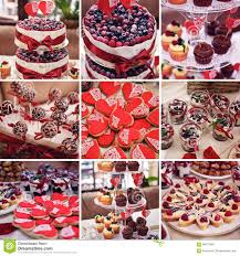 colorful cakes collage dessert table party ombre cake