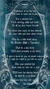 halloween poem u0026 invitation design dazzle