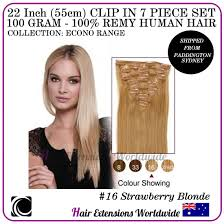 16 Inches Hair Extensions by 22 U201d Clip In 100 Remy Human Hair Extension 7 Piece 100g Various