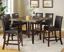 Acme Dining Room Sets by Acme Furniture Idris 7 Piece Counter Height Dining Set With Square