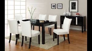 dining room sets modern style 7 pc lamia i contemporary style high gloss black wood finish