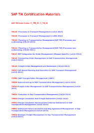 sap tm certification exam books