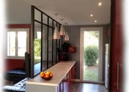 cloison vitree cuisine salon cloison verre cuisine idées décoration intérieure