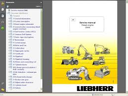 liebherr d846 diesel engine service manual repair manual order