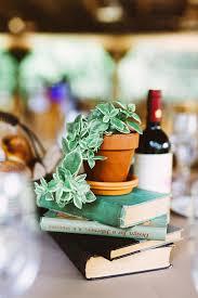 Potted Plants Wedding Centerpieces by Stylish Pennsylvania Bird Sanctuary Wedding Book Centerpieces