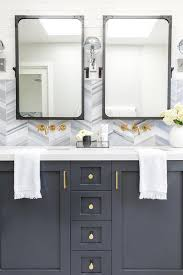 Restoration Hardware Kitchen Faucet by Charcoal Gray Washstand With Gold Wall Mount Faucet Contemporary