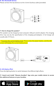 aurabox bluetooth speaker user manual users manual shenzhen divoom