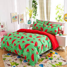 Comfortable Bed Sets New Fashion Bedding Sets Watermelon Banana Fruit Bed Sheet Quilt