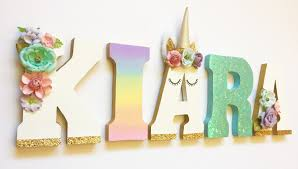 themed letters unicorn themed letters