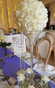 Martini Glass Vase Flower Arrangement Wedding Martini Vase Hire Kent By Embellish Venue Styling