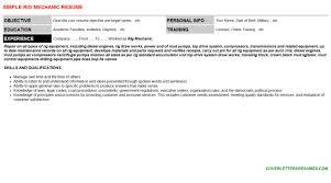 rig mechanic cover letter u0026 resume