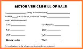 bill of sale template car free motor vehicle bill of sale template 100 images blank