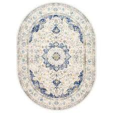 6 X 9 Oval Area Rugs Blue 7 X 9 Area Rugs Rugs The Home Depot