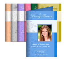 Funeral Program Printing Services Store Services Printing Services Center Fold Programs