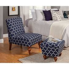 armless chair and ottoman set homepop susan armless accent chair ottoman set blue products