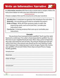 writing instructions worksheet education com