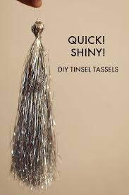 how to make tinsel tassels from tree icicles mighty