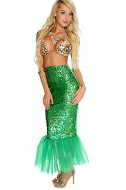 mermaid costume beige green 2 mermaid costume