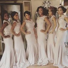 Light Pink Bridesmaid Dress New Arrival 2016 African Pale Pink Mermaid Bridesmaid Dresses Long