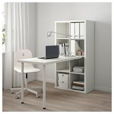White Writing Desk With Hutch by Kallax Desk Combination White 77x147 Cm Ikea