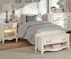 Twin Size Bedroom Furniture Kensington White Finish Charlotte Twin Size Panel Bed 20010 Ne