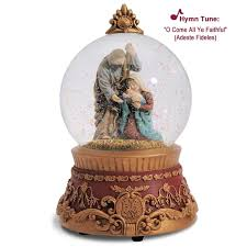 holy family musical snow globe vatican observatory 4029309