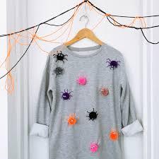 free tutorial halloween pom pom spooky spider sweatshirt