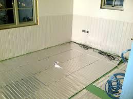 heated floors under laminate shepherd u0027s huts in devon 130w underlaminate systems heat mat