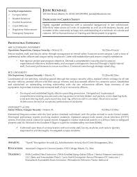Security Job Objectives For Resumes by Entertainment Security Guard Sample Resume Template For Christmas
