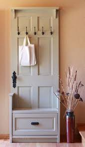 Diy Entryway Bench With Storage 95 Best Recycle Doors Images On Pinterest Old Doors Home And