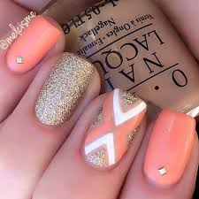 best 25 coral nails glitter ideas on pinterest coral nails gold