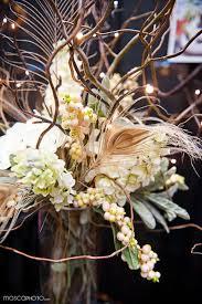Lit Branches Floral Branches Centerpiece Floral Arrangement With Lit Branches