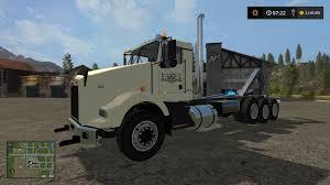 kw tractor trailer wmf kenworth t800 hooklift v1 0 0 0 truck farming simulator 2017