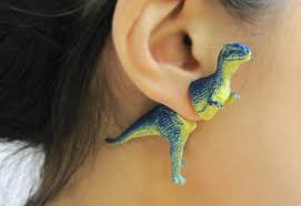 funky earrings funky earrings from ooo workshop upcycled dinosaurs decor