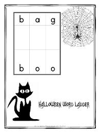 halloween word ladder worksheets grade 2 3 halloween worksheets