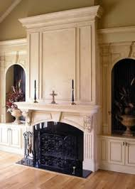 Embellish Interiors Salvaged Fireplace Mantle Traditional Living Room Images By