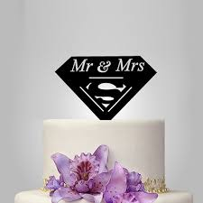 superman wedding cake topper mr and mrs superman wedding cake topper cake decoration