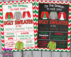ugly sweater christmas party invitations reduxsquad com