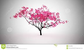 pink tree stock illustration image of garden 33242965