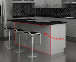 kitchen island panels collection in kitchen island back panel and did you three