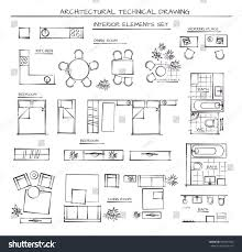 professional architectural vector set interior elements stock