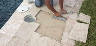 Installing Travertine Tile Travertine Paver Pool Deck Ideas Installation And Cost Sefa