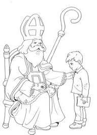 st nicholas coloring christmas saint