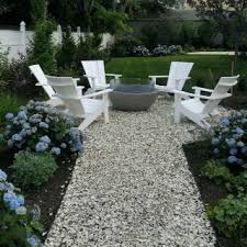 Gravel Fire Pit Area - custom fire pits tables and bowls